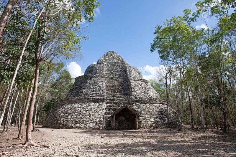 Vista las ruina de Coba en Quintana Roo México