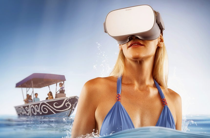 VR experience at Dolphinaris