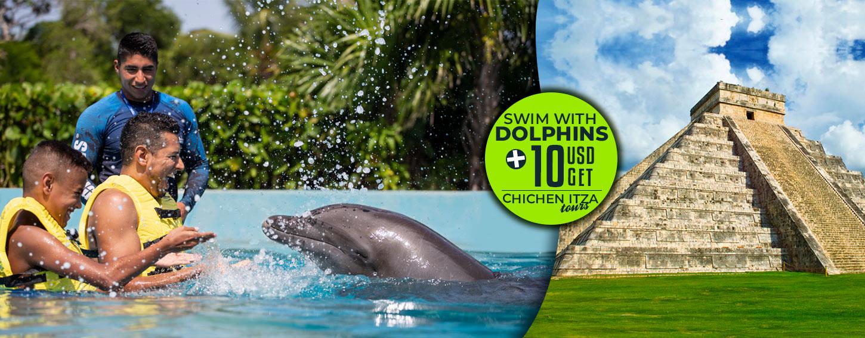 Swim With Dolphins Plus Chichen Itza Tour