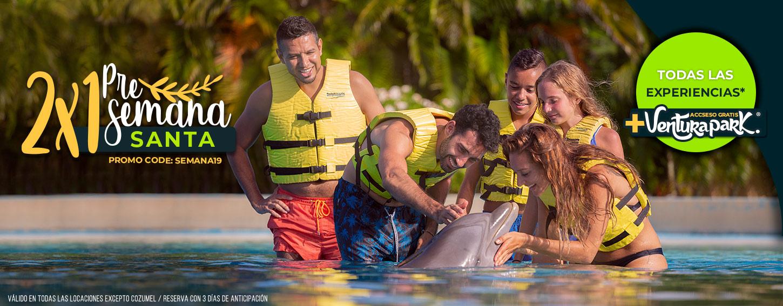 Promoción Pres Semana Santa Descuentos en Nados con Delfines al 2x1