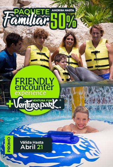 Promoción paquete Familiar - Descuentos en Experiencias con Delfines.