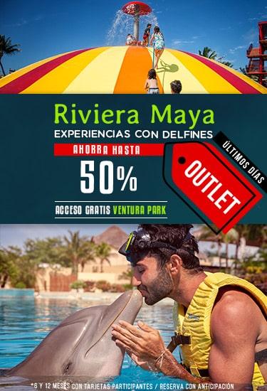 Outlet Dolphinaris Riviera Maya - Experiencias con delfines con hasta un 50% de descuento.