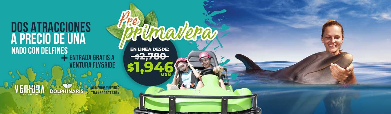 promocion preprimavera delfin y mujer