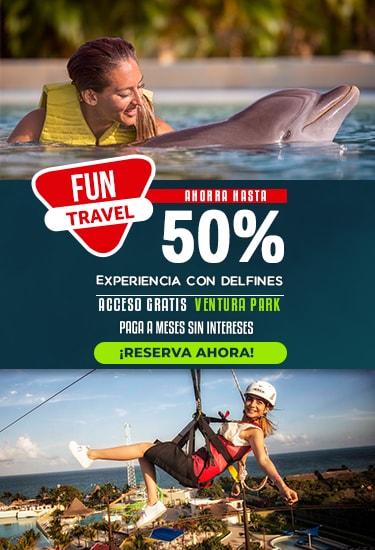 Nada con delfines al 50% y paga a meses sin intereses