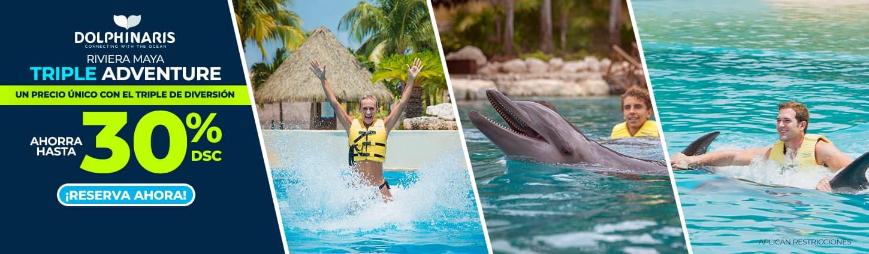 Dolphinaris Riviera maya Triple adventure