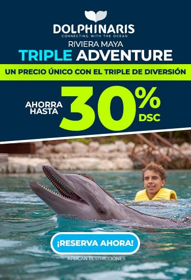 Triple adventure at Riviera Maya Mexico