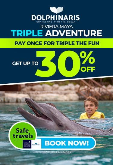 Triple adventure at Riviera Maya