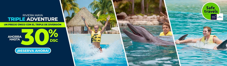 Triple adventure at Dolphinaris