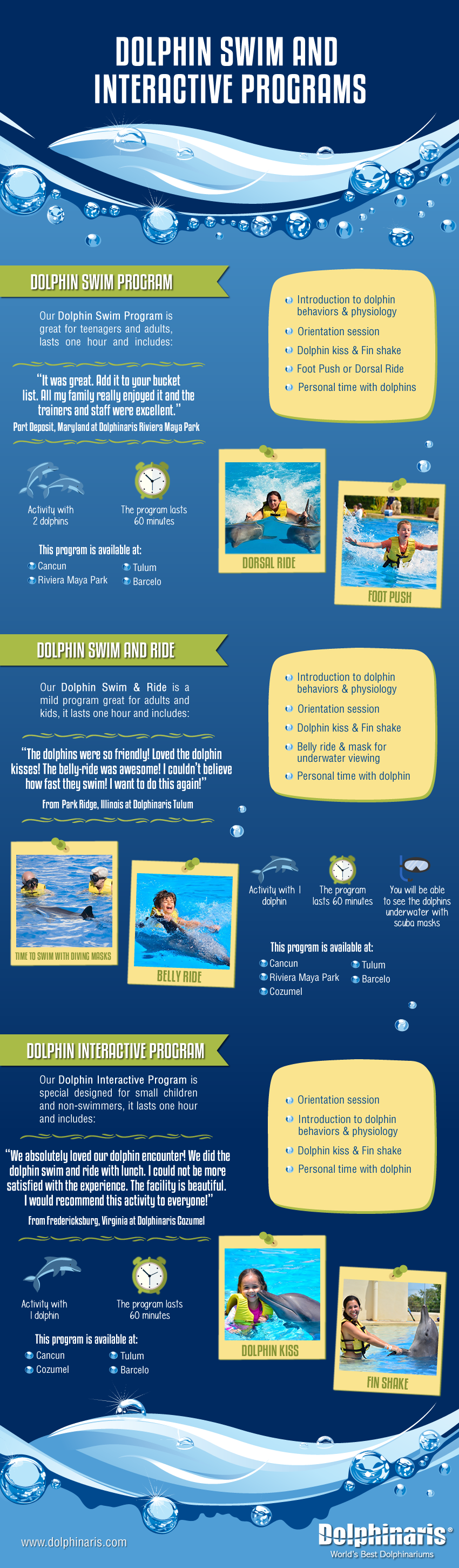 Dolphin swim programs