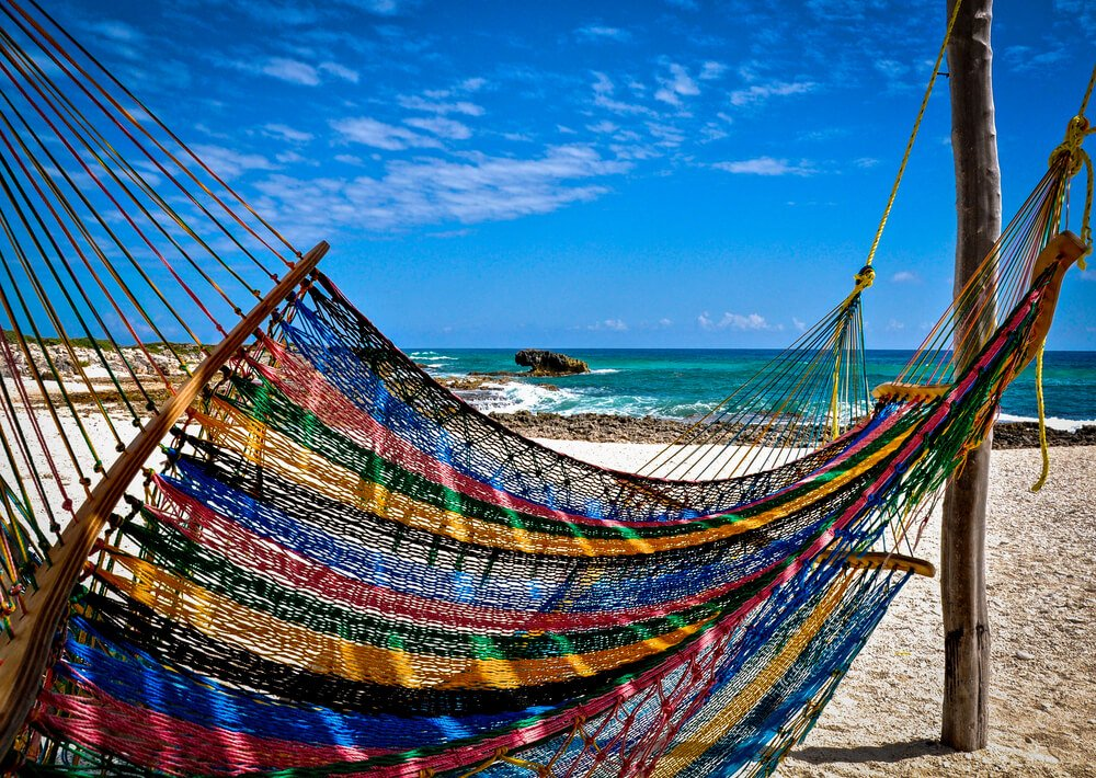 Beaches at Cozumel Island in Mexico