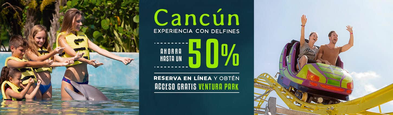 Disfruta de hasta un 50% de descuento en experiencia con delfines en Cancún