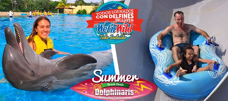 Dolphinaris & Wet'n Wild Promoción de Verano Cancún