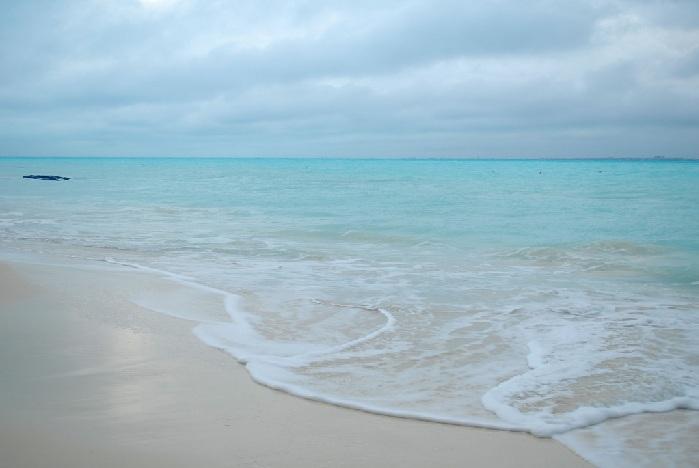 Las playas del Cancún son especiales cuando llueve.