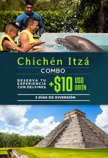 Combo Nado con delfines con Tour a Chichén Itza.