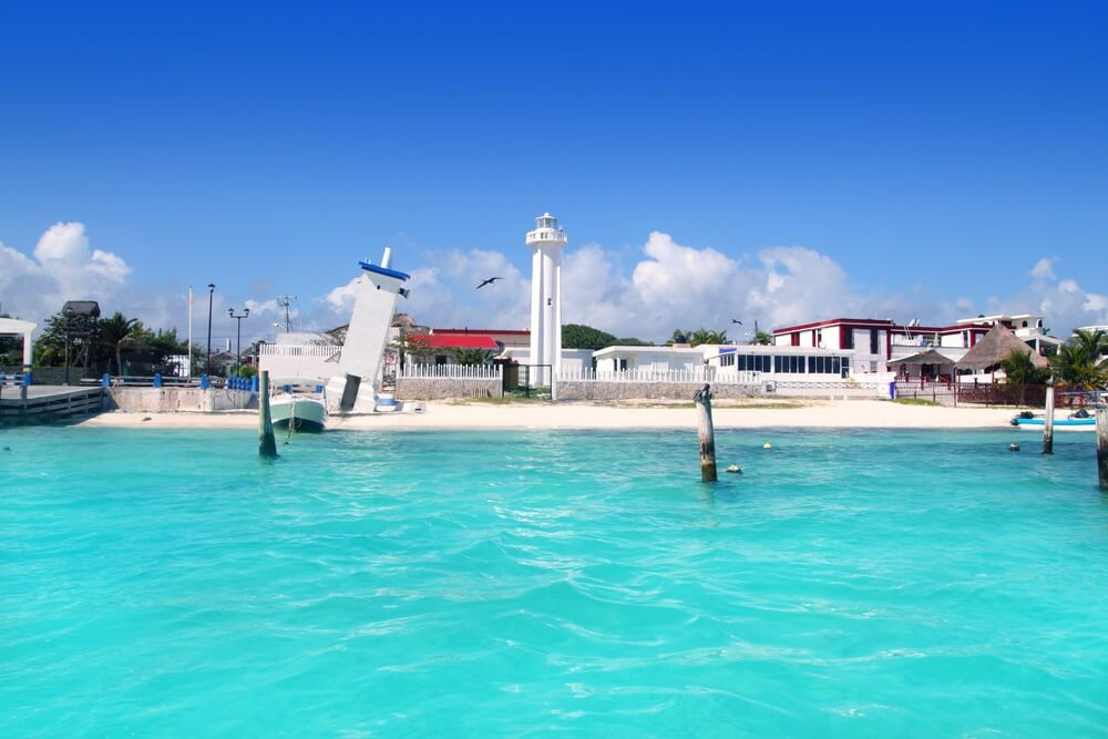 Playa del Carmen y sus playas de arena blanca.