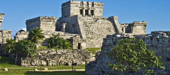 The historic ruins of the ancient Mayan city of Tulum Mexico