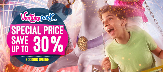 Book your admission to Ventura Park Cancun and save up to 30%